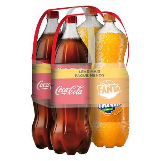 Oferta de Kit Coca Cola 2lt+fanta Laranja 2lt por R$10,98