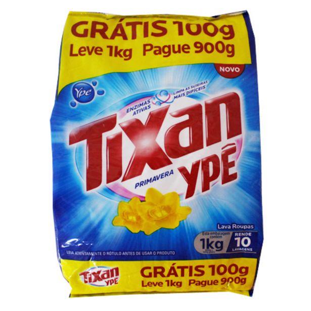 Oferta de Deterg.po Tixan Lv1kg/pg900gr Sache Primavera por R$6,49