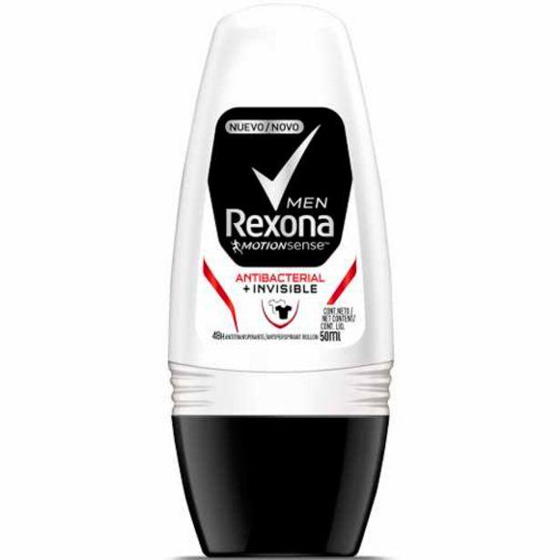 Oferta de Desodorante Roll-on Rexona 50ml Men.antib Invis por R$8,9