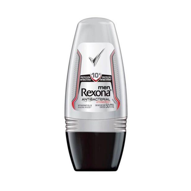 Oferta de Desodorante Roll-on Rexona 50ml Masc. Antibac por R$8,9