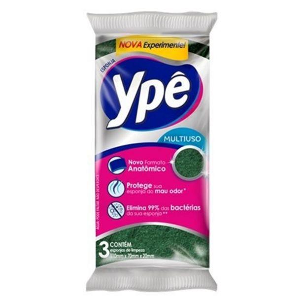 Oferta de Esponja Multiuso Ypê Sintética 3Un por R$3,61