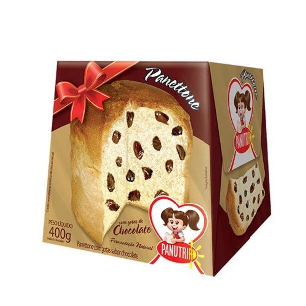 Oferta de Panettone com Gotas Chocolate Panutri 400G por R$4,12