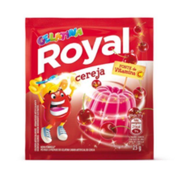Oferta de Gelatina Em Pó Royal Cereja 25g por R$1,32