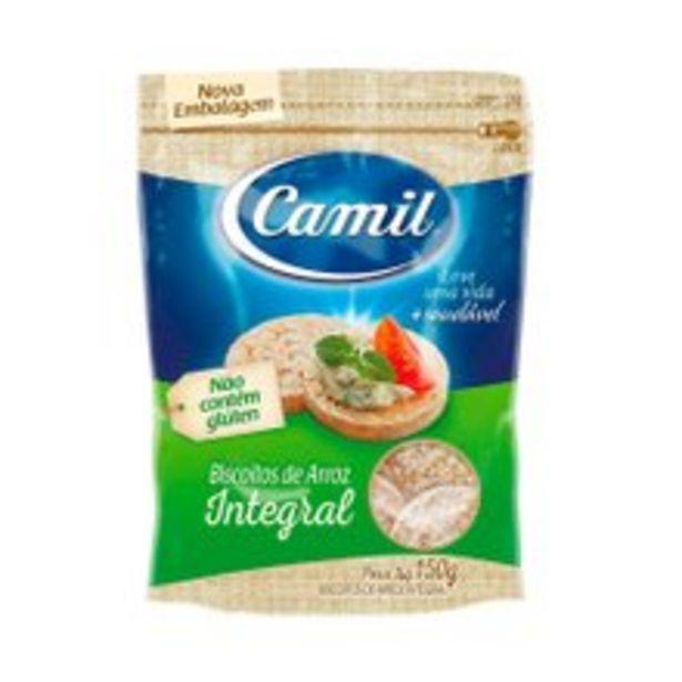 Oferta de Biscoito de Arroz Camil Integral Mini 150g por R$7,2
