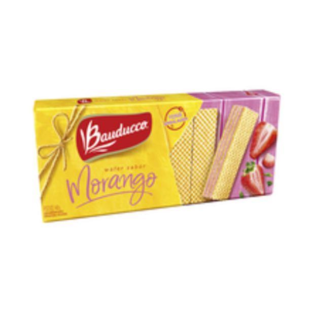 Oferta de Biscoito Bauducco Wafer Morango 140g por R$2,69