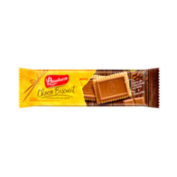 Oferta de Biscoito Bauducco Choco Biscuit Ao Leite 80g por R$4,99