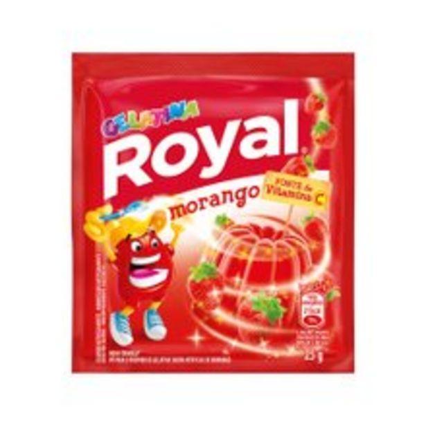 Oferta de Gelatina Em Pó Royal Morango 25g por R$1,32
