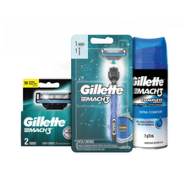 Oferta de Aparelho Para Barbear Gillette Cart Mach3 Defense Com 3 Unidades por R$29,9