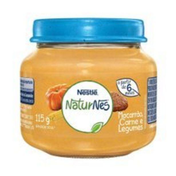 Oferta de Papinha Naturnes Nestlé Carne, Legumes e Macarrão 115g por R$3,99