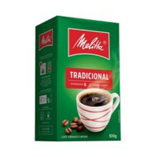Oferta de Café Melitta Tradicional A Vácuo 500g por R$15,99