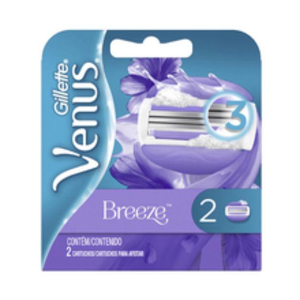 Oferta de Carga Para Aparelho de Depilar Gillette Venus Breeze Com 2 Unidades por R$19,9