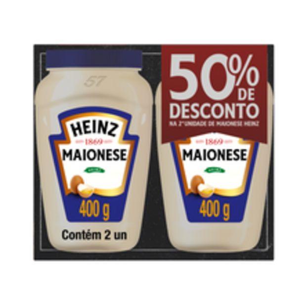 Oferta de Maionese Heinz 400g Com 2 50% de Desconto Na 2 Unidade por R$14,98