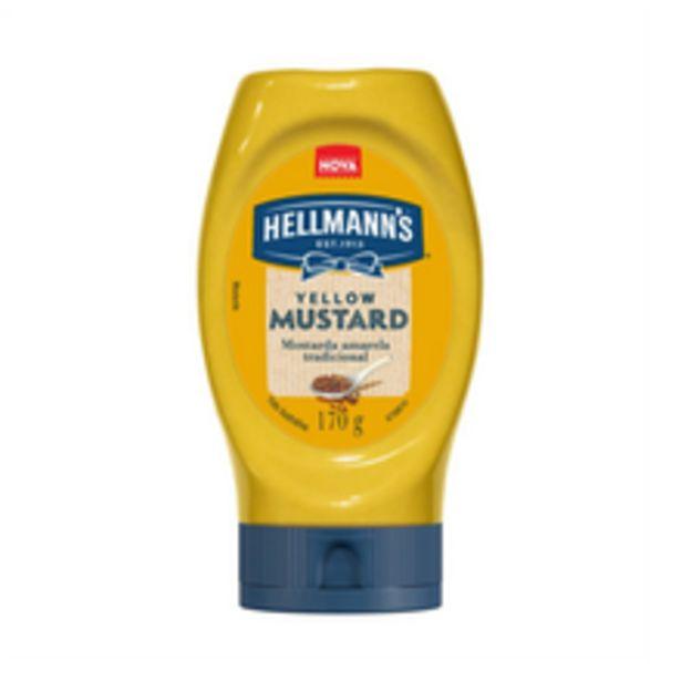 Oferta de Mostarda Hellmann's Yellow Mustard 170g por R$5,99
