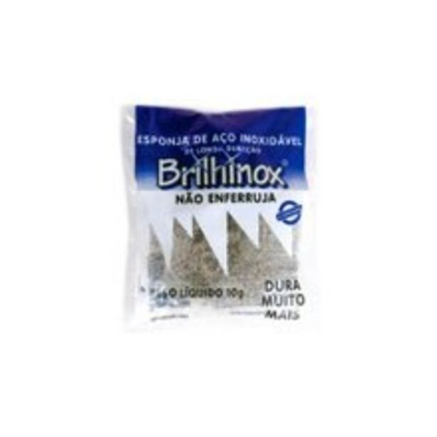 Oferta de Esponja de Aço Brilhinox Inoxidável 10g por R$2,75