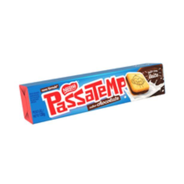 Oferta de Biscoito Recheado Passatempo Chocolate 130g por R$1,89