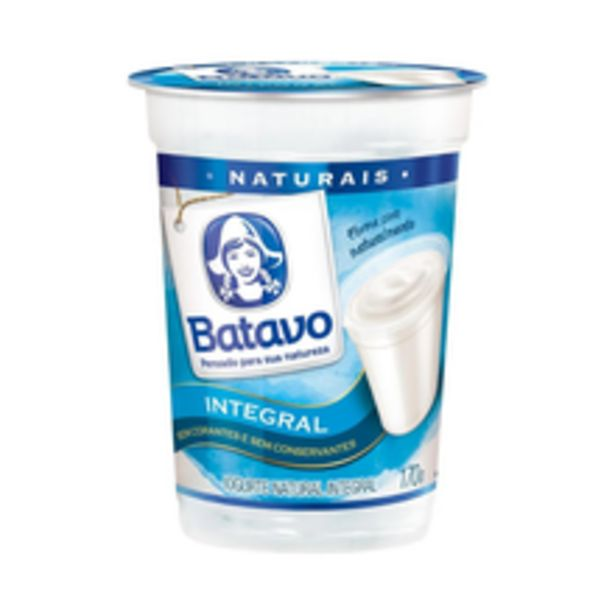 Oferta de Iogurte Natural Batavo Integral 170g por R$2,19