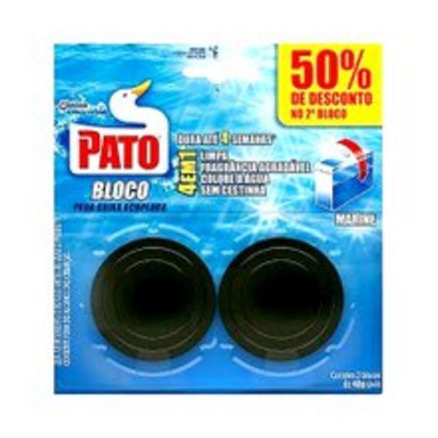 Oferta de Bloco Sanitário Pato Para Caixa Acoplada Marine 40g Com 2 Unidades por R$13,49
