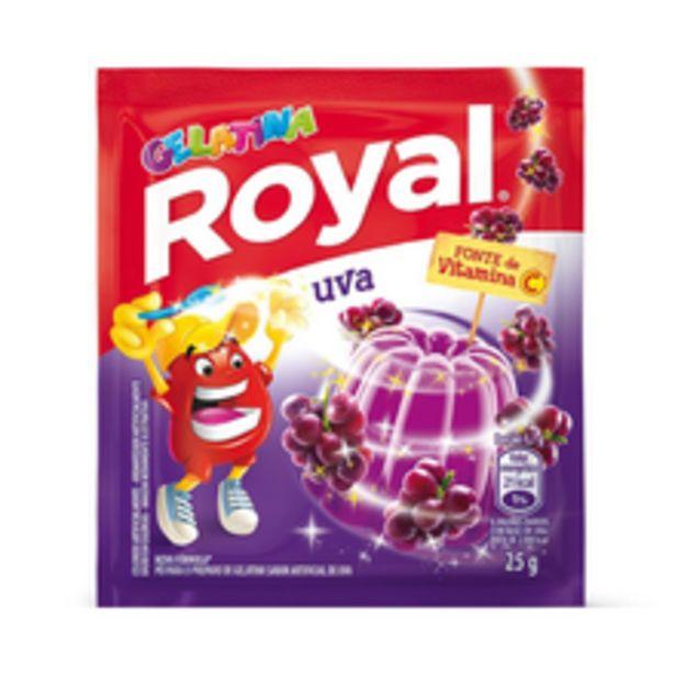 Oferta de Gelatina Em Pó Royal Uva 25g por R$1,32