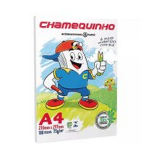 Oferta de Papel Sulfite Chamequinho A4 Com 100 Folhas por R$7,29