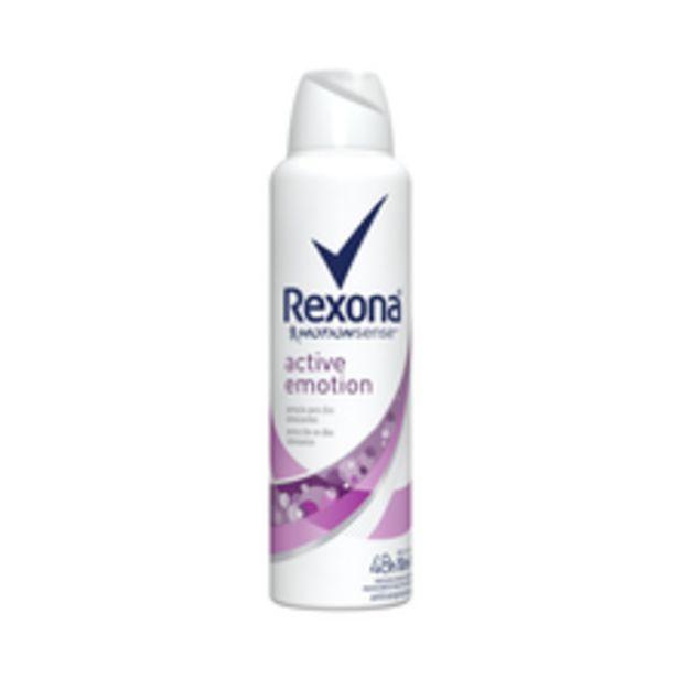 Oferta de Desodorante Antitranspirante Aerosol Feminino Rexona Active Emotion 72 horas 150ml por R$12,89