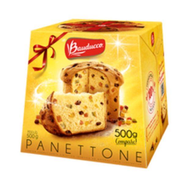 Oferta de Panettone Bauducco 500g por R$20,59