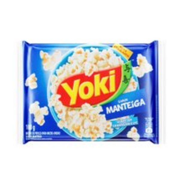 Oferta de Pipoca Para Microondas Yoki Manteiga 100g por R$2,69