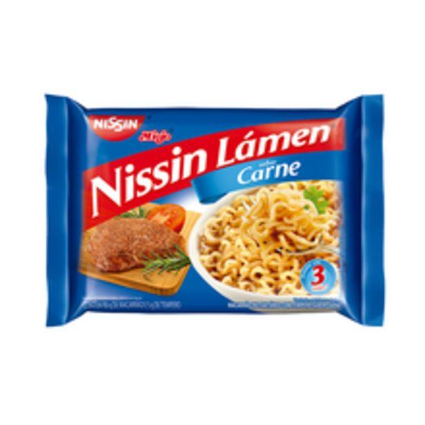 Oferta de Macarrão Instantâneo Carne Nissin Miojo Lámen 85g por R$1,79