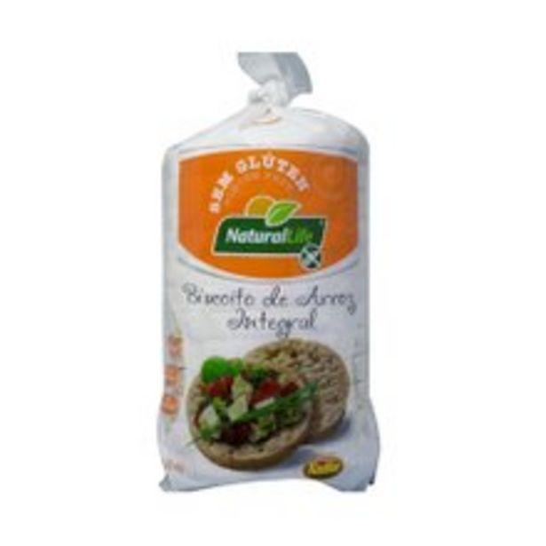 Oferta de Biscoito de Arroz Natural Life Sem Glúten 80g por R$5,14