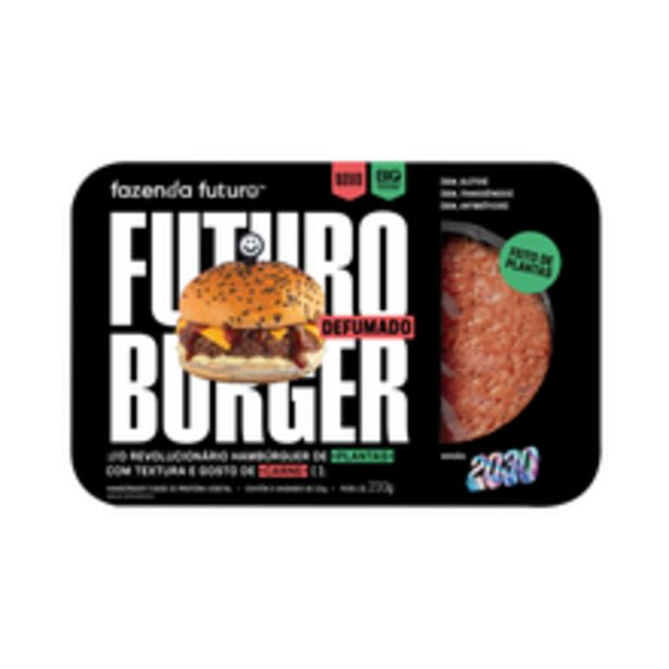 Oferta de Hambúrguer Vegetal Defumado Fazenda Futuro Congelado 230g por R$12,98