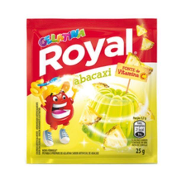 Oferta de Gelatina Em Pó Royal Abacaxi 25g por R$1,32