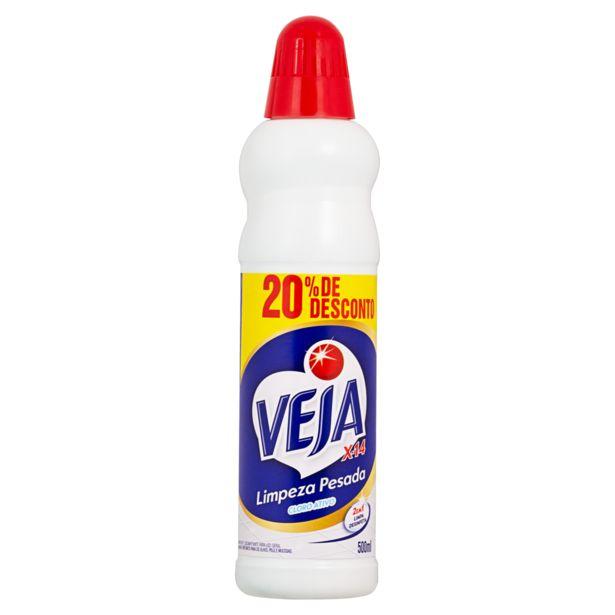 Oferta de Limpeza Pesada Veja 500 Ml Clorado 20% por R$3,99