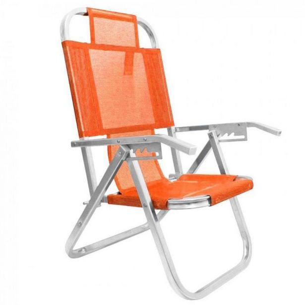 Oferta de Cadeira De Praia Botafogo 1 Un 5 P S/Suporte por R$84,9