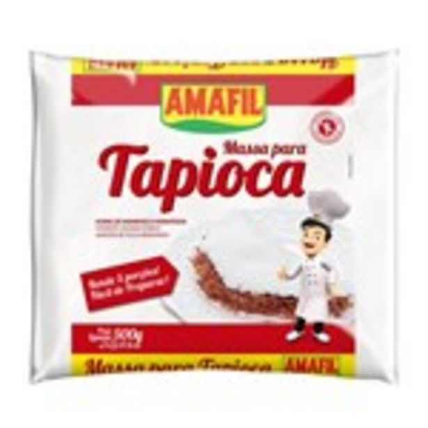 Oferta de Massa para Tapioca Amafil 500Gr por R$3,99