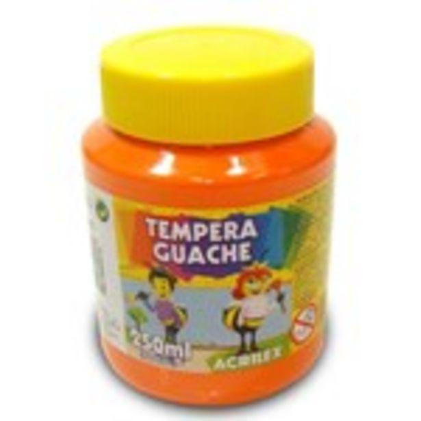 Oferta de Empera Guache Acrilex Laranja Embalagem 250Ml por R$5,49