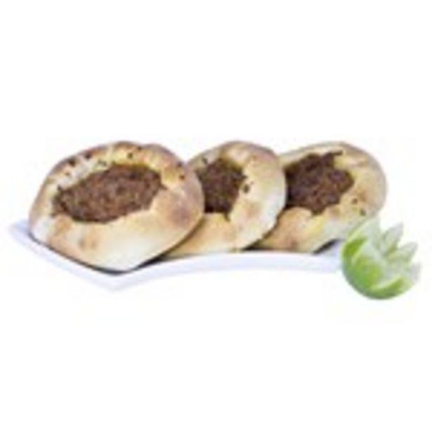 Oferta de Esfiha de Carne Aberta Unidade por R$4,9