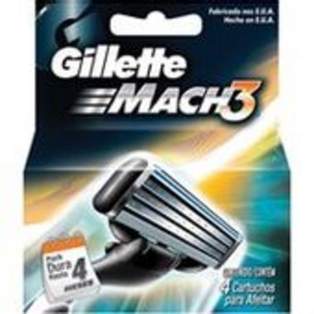 Oferta de Carga Gillette Mach3 Com 4 Unidades por R$47,89