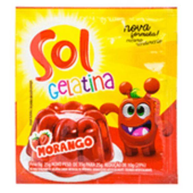 Oferta de Gelatina Em Pó Sol Morango 25g por R$1,39