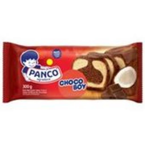 Oferta de Bolo Panco Chocoboy 300g por R$8,09