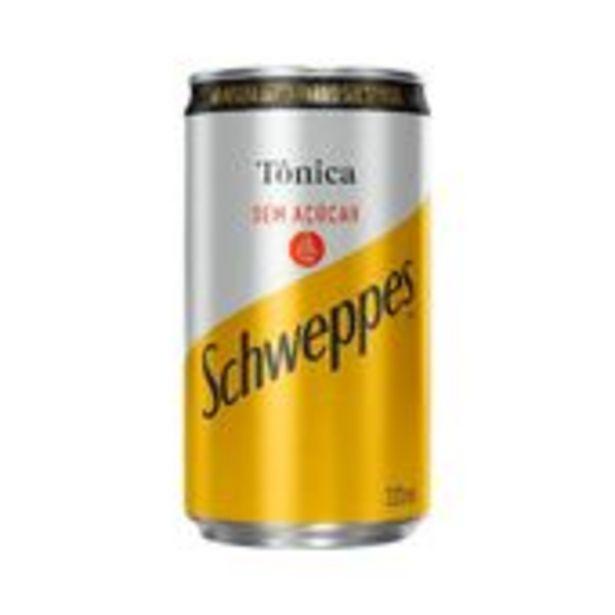 Oferta de Água Tonica Schweppes Sem Açúcar Lata 220ml por R$2,19
