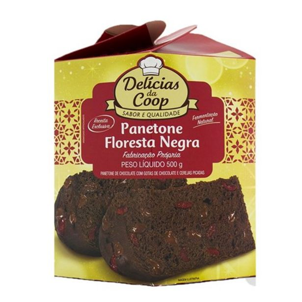 Oferta de Panettone Delicias da Coop Chocolate 500G por R$8,99