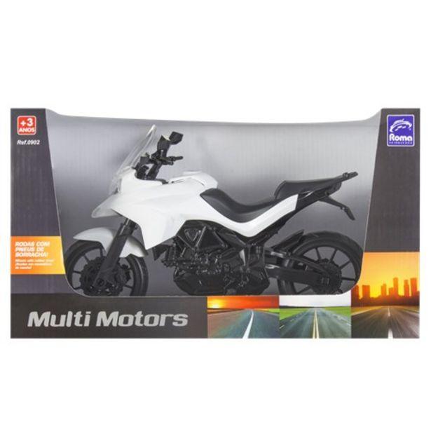 Oferta de Moto de Brinquedo Branca Multi Motors Roma Brinquedos por R$42,99