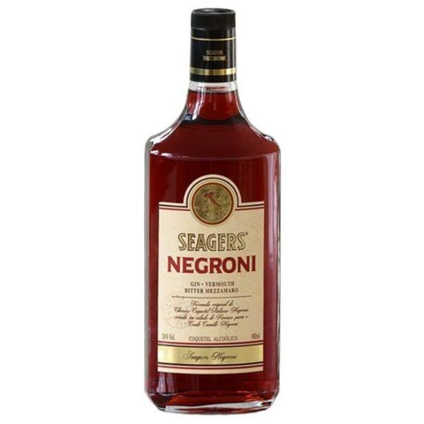 Oferta de Coquetel Seagers Negroni Garrafa 980Ml por R$38,9
