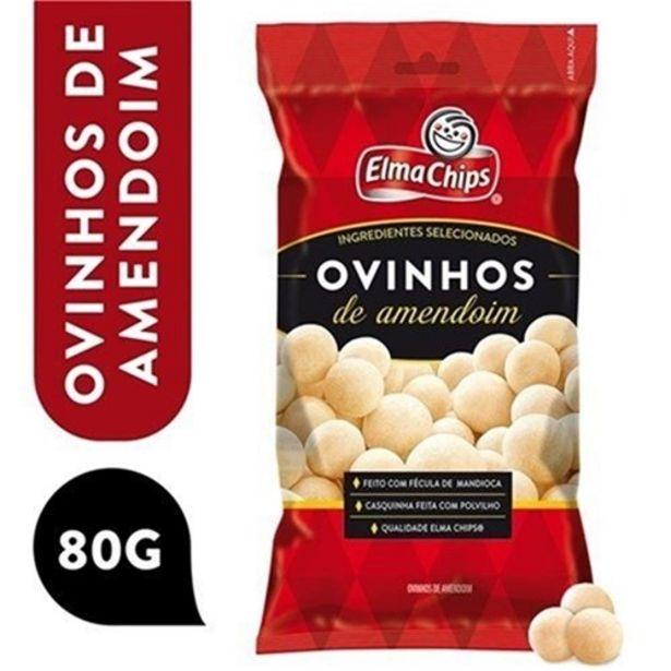 Oferta de Amendoim Elma Chips Ovinhos 80G por R$3,89