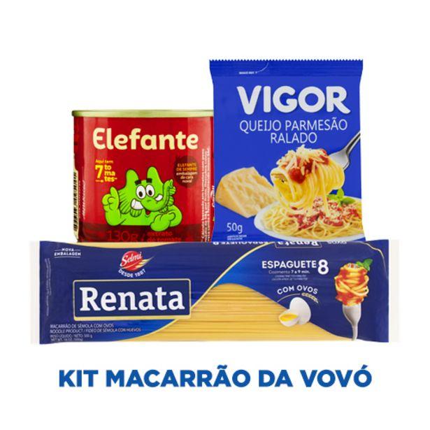 Oferta de KIT MACARRÃO DA VOVÓ por R$13,67