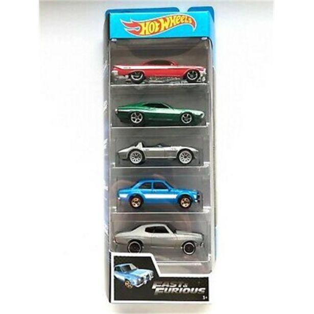 Oferta de Carrinho Hotwheels Fast Furious 5X1 por R$69,99
