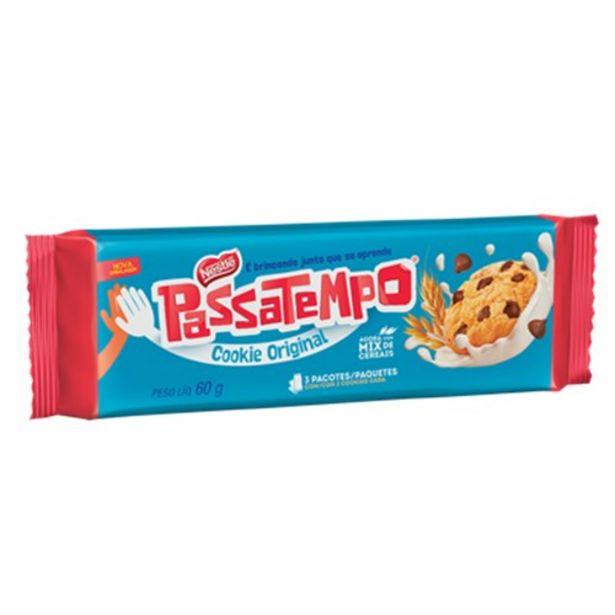 Oferta de Biscoito Cookie Passatempo Gotas de Chocolate 60G por R$2,29