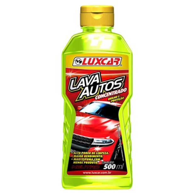 Oferta de Lava Auto Luxcar com Cera Embalagem 500Ml por R$14,99