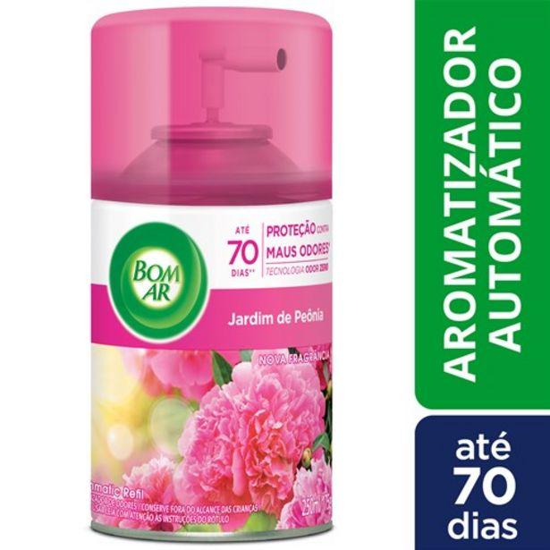 Oferta de Aromatizador Automático Bom Ar Freshmatic Jardim de Peônia Refil 250Ml por R$32,99
