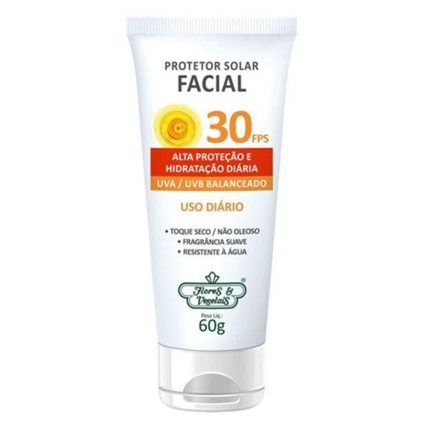 Oferta de Protetor Solar Facial Flor&Vegetal Fps50 Embalagem 60G por R$21,99