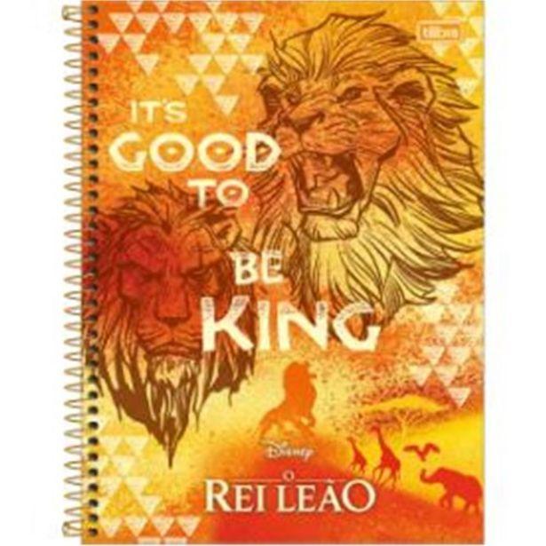Oferta de Caderno Tilibra Rei Leão Diversos 10 Matérias 160 Folhas por R$21,9